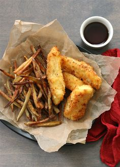 Fish and chips from the oven | Crispy, crunchy, salty, vinegary (in a great way)--fish and chips are kinda the best. But frying seems like such a hassle, not to mention the way it makes your house smell like a burger joint. So when we heard we could get the same results in the oven, we were sold. This recipe requires just a few ingredients and bakes for only 25 minutes. Plus, unlike frying, it actually leaves your house smelling amazing.