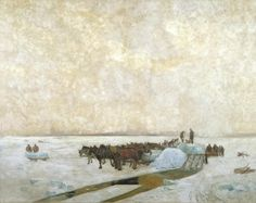 Maurice Cullen: Ice Harvest - Canadian Art