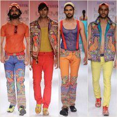 Menswear from Lakme Fashion Week best of Printed mens fashion was seen this seasobn for men. Go bold go colourfull go printed go MeN