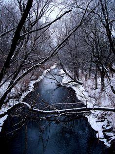 winter river   Morgaen Muñoz