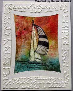 Karen's Kreative Kards: Sailboat at Sunset Bister Card