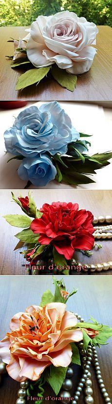 Цветы из фоамирана Натальи Шелагиной: sees_all_colors