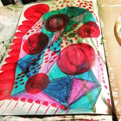All about play tonight #artjournal .@thestromboshow #art