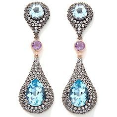 via @Carol Brodie: Loving these today!!! Rarities: Fine Jewelry with Carol Brodie 19.44ct Multigemstone Sterling Silver Drop Earrings at HSN.com $399.90