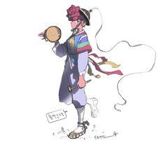 ArtStation - Pungmul Nongak Girl , Steve Ahn Best Artist, Girl Photography, Cool Artwork, Art Inspo, Disney Characters, Fictional Characters, Illustration Art, Korea, Alice