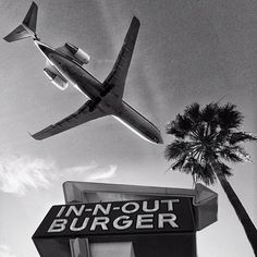 #travelcolorfully The local In-N-Out Burger in Westchester is a popular plane spotting location as airplanes make their final descent onto the runways.