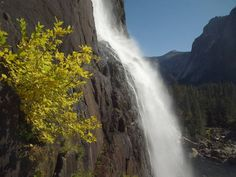 For some people, fall is always the best time to be outdoors. Yes, I always welcome the extra colors and the cooler weather. Here is lower Yosemite Falls and some fall color. by Larry Harrell Fotoware