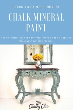 Click here to watch quick and easy video on how to create painted furniture pieces the quick and easy way. Dixie Belle Paint is the easy peasy chalk mineral paint.