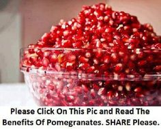 Health Benefits of Pomegranate/ Pomegranate Juice: The Top Ten