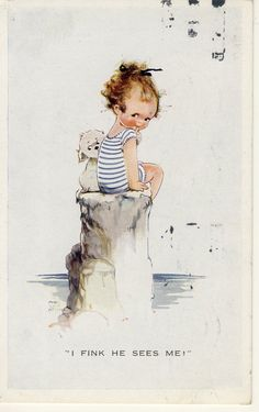 """MABEL LUCIE ATTWELL """"I FINK HE SEES ME"""" No A492 