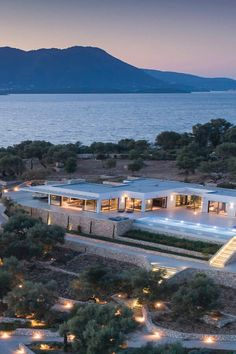 Architects, Landscape Design at Meganisi Island, Ionian Islands, Greece 🏘🏗🗺🏖 Landscape Design, Architects, Islands, Greece, Mansions, House Styles, Home Decor, Greece Country, Decoration Home