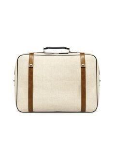 canvas suitcase / zara