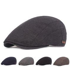Color : Brown, Size : 56-60CM Exquisite hat Elegant Classic Winter Men Leather Hat Mens Plus Cotton Warm Baseball Cap Adjustable Winter Leather Cap Gentleman Hat