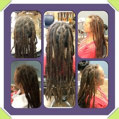 Before & After.  #dreads #dreadlockmaintenance #caucasiandreadlocks