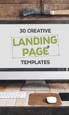 On the Creative Market Blog - 30 Creative Landing Page Templates to Inspire…