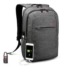 Tigernu  - $25.29 (coupon: Tigernu2511) Brand External USB Charge Backpack Male Mochila Escolar Laptop Backpack School Bags for Teens  BLACK GREY   #TIGERNU, #Backpack, #gearbest, #рюкзак, #Bag, #USB  0151