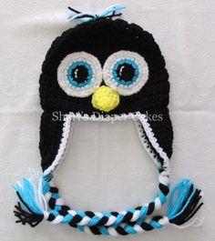 Handmade Spark - sharisdiapercakes - Penguin Crochet Hat - Baby Hat