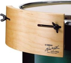 """Yamaha Russ Miller Signature Wedges RM-CW Percussion Blocks by Yamaha. $64.83. Cascara wedge, Russ Miller. This 7-ply all maple percussion board easily attaches to 10"""" to 18"""" drums to add a Latin flavor to your beat.. Save 35%!"""