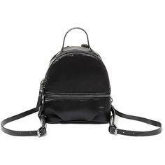 Steve Madden Bsly Backpack ($58) ❤ liked on Polyvore featuring bags, backpacks, black, zip bag, pocket backpack, mini bags, mini zip bags and backpack bags