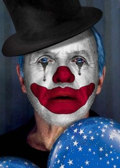 Photoshop-Clowning Around 7 - Contests Clown Faces, Le Clown, Circus Clown, Creepy Clown, Clown Makeup, Halloween Makeup, Clown Photos, Pierrot Clown, Sir Anthony Hopkins