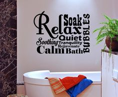 spa bathroom wall decor