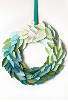 Paint Chips Christmas Wreath