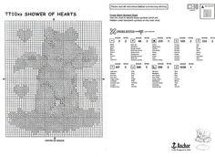 Shower of Hearts Cross Stitch Heart, Tatty Teddy, Chart, Reading, Zoom Zoom, Shower, Ph, Watch, Gallery