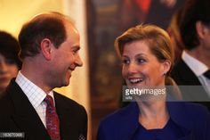 Prince Edward, Earl of Wessex and his wife Sophie, Countess of Wessex, attend a fashion show at the British Embassy on March 13, 2013, in Prague.