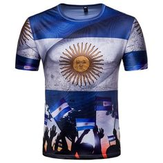 663f35f0224 All Things Everyone - Argentina Flag Print T-Shirt Argentina 2018, Messi  Argentina,