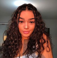 2019 Cute Hairstyles For Girls - Easy Step by Step - Curly hair styles-- Cute Curly Hairstyles, Baddie Hairstyles, Girl Hairstyles, 1920s Hairstyles, Stylish Hairstyles, Hairstyles Tumblr, Latina Hairstyles, School Hairstyles, Hairstyles For Summer