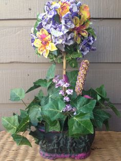 Handmade Artificial Floral Arrangement by KsHandmadeFlorals, $35.00