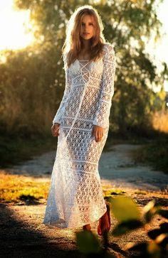 вязание крючком платье Анна Костурова