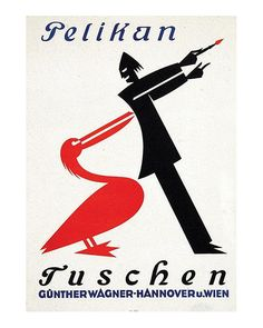 Anonymous,Advertising poster for Pelikan Tuschen | ink, 1920s.