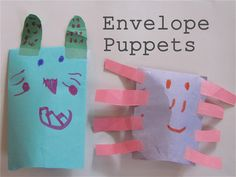The Chocolate Muffin Tree: Super Easy Envelope Puppets