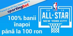 Sportingbet: 100 RON pariu GRATUIT - NBA all star game - Ponturi Bune