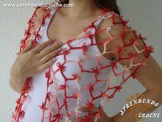 Cachecol de Crochê Dunas - Aprendendo Croche - YouTube