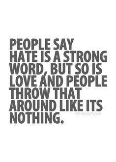 Strong words