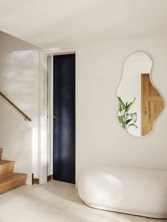 Inspired by free-flowing movements of water, the mirror invites open and fluid forms into your home, turning the functional mirror into a decorative wall piece. The mirror can be hung more ways so that you can find the perfect fit for the room and yo. Modern Pond, Hm Home, Interior Desing, Modern Interior, Wall Decor, Room Decor, Living Spaces, Living Room, Beveled Mirror
