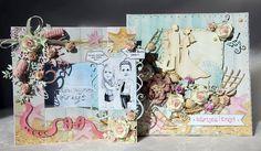 ślubny komplet kartka w pudełku