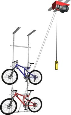 Horizontal Double Bike Lift Motorized