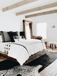 cozy white grey bedroom ideas, home decor