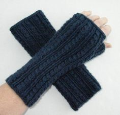 CUSTOM Fingerless Gloves Cashmere Blend with Cables by MFcrafts, $30.00