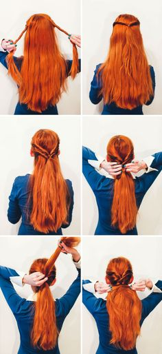 No Fuss Fishtail Tutorial via A Beautiful Mess