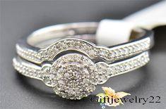 14K White Gold 1.40 Ct Diamond Round Cut Engagement Ring Wedding Band Bridal Set #giftjewelry22