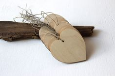 Wooden hearts / set of 10 / 2.8 x 2.8 hearts / by NeliStudio