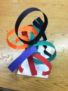 Sculpture + Lines / construction paper