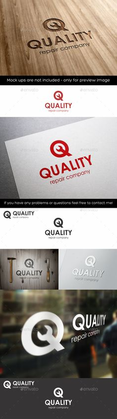 Quality Repair Q Letter Logo - Repair Logo – Q Letter – Simple and clean logo for service companies or mechanical service company. – Great logo template suitable for companies whose name starts with the letter Q.  Is suitable for automotive business, auto repair, auto garage, auto moto race, car business, software development businesses, media, design agencies, video developers, marketing, print and photography businesses, auto,car, moto, bike, mobile and other repair service...etc.