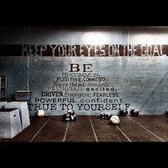 """SHOW ME YOUR BOX! This is Peak 360 Crossfit in Miami. """"Be Uncommon… Fearless… Powerful… Confident… TRUE TO YOURSELF."""" Amen. #crossfitcandy healthandfitnessnewswire.com"""