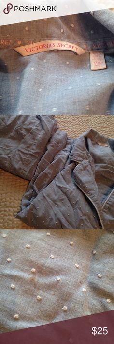 Blue with little cotton puff cloud ☁️ Vs pajamas Some subtle stains as shown.  Light blue- MEDIUM SHORT Victoria's Secret Intimates & Sleepwear Pajamas