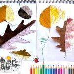 Autumn leaf symmetry drawing